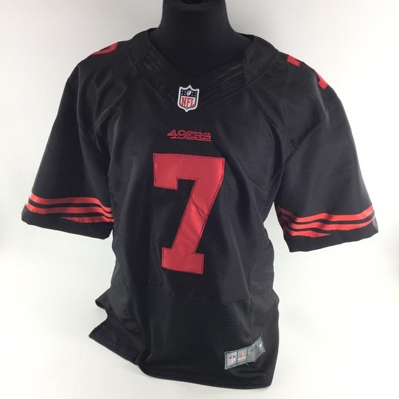 Nike Colin Kaepernick NFL Jersey 49ers Black Red